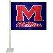 Ole Miss Car Window Flag