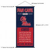 Ole Miss Fan Cave Man Cave Banner Scroll