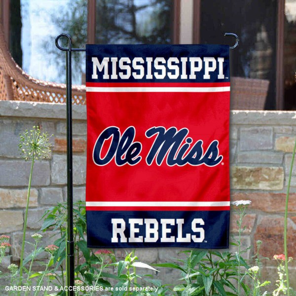 Ole Miss University of Mississippi Garden Yard Flag is 13x18 inches in size, is made of 2-layer polyester, screen printed logos and lettering. Available with Same Day Express Shipping, Our Ole Miss University of Mississippi Garden Yard Flag is officially licensed and approved by the NCAA.