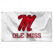 Ole Miss White Logo Flag