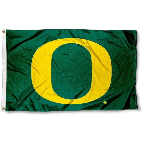 Oregon Big O Flag measures 3'x5', is made of 100% poly, has quadruple stitched sewing, two metal grommets, and has double sided Oregon Big O logos. Our Oregon Big O Flag is officially licensed by the selected university and the NCAA.