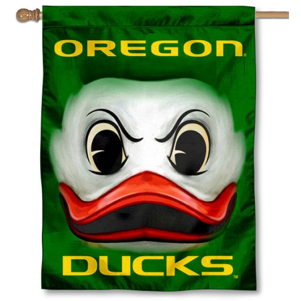 Oregon Ducks Eyes Logo House Flag is a vertical house flag which measures 30x40 inches, is made of 2 ply 100% polyester, offers screen printed NCAA team insignias, and has a top pole sleeve to hang vertically. Our Oregon Ducks Eyes Logo House Flag is officially licensed by the selected university and the NCAA.