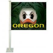 Oregon Ducks Fighting Duck Eyes Car Flag