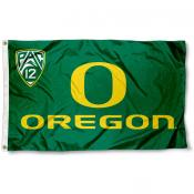 Oregon Ducks Pac 12 Logo Flag