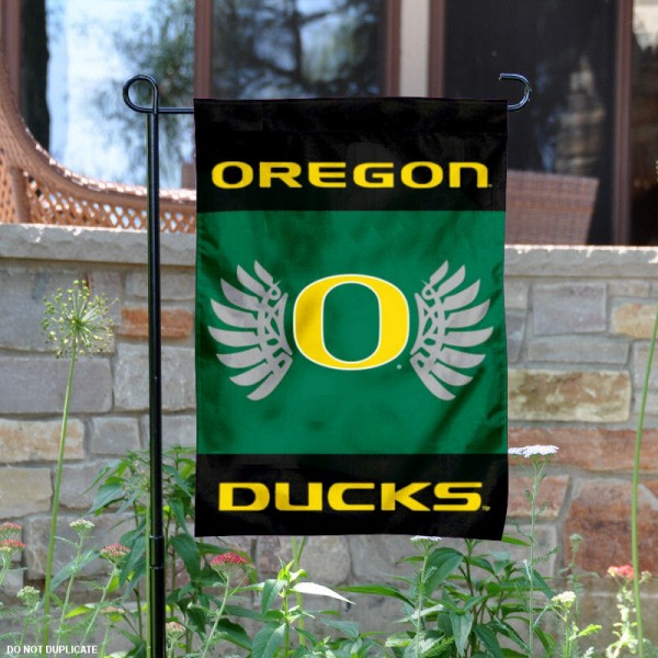Oregon Ducks Wings Yard and Garden Flag is 13x18 inches in size, is made of 2-layer polyester, screen printed Oregon Ducks athletic logos and lettering. Available with Same Day Express Shipping, Our Oregon Ducks Wings Yard and Garden Flag is officially licensed and approved by Oregon Ducks and the NCAA.