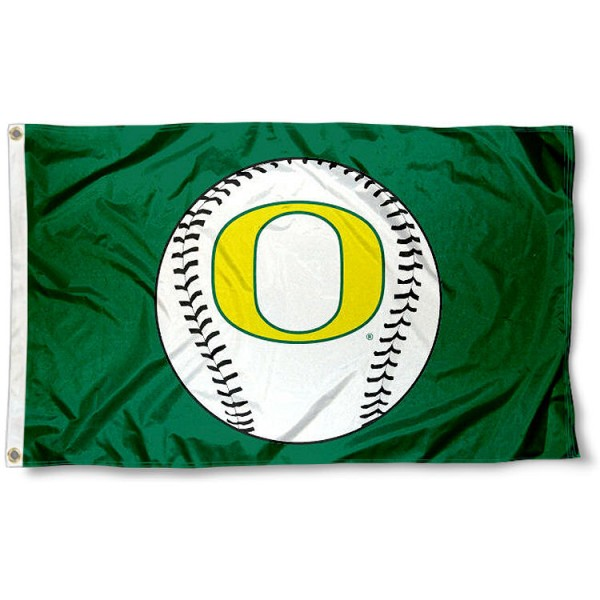 "Oregon ""O"" Logo Baseball Flag measures 3'x5', is made of 100% poly, has quadruple stitched sewing, two metal grommets, and has double sided Team University logos. Our Oregon ""O"" Logo Baseball Flag is officially licensed by the selected university and the NCAA."