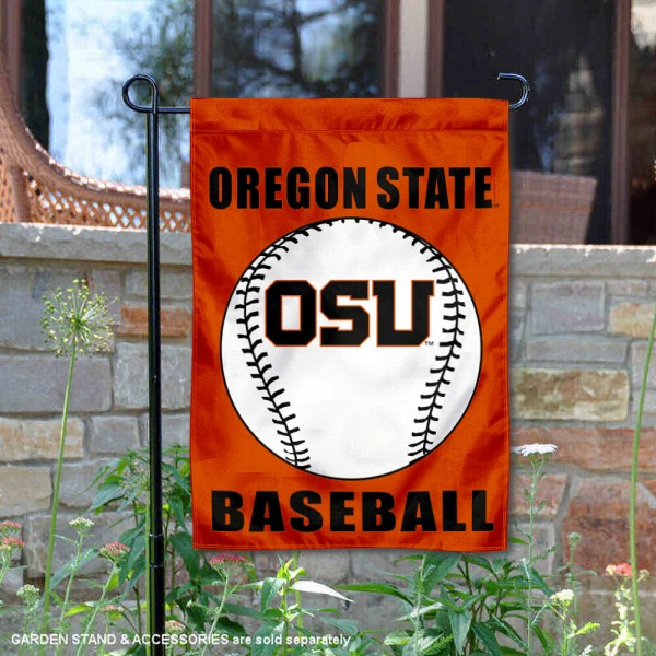 Oregon State Beavers Baseball Team Garden Flag is 13x18 inches in size, is made of 2-layer polyester, screen printed Oregon State University Baseball athletic logos and lettering. Available with Express Shipping, Our Oregon State Beavers Baseball Team Garden Flag is officially licensed and approved by Oregon State University Baseball and the NCAA.