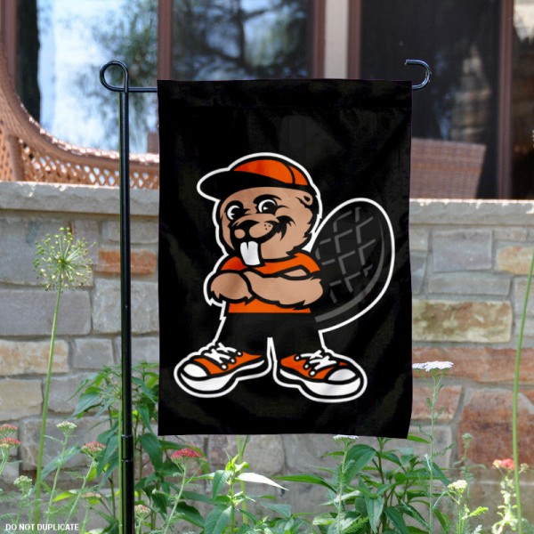 Oregon State Beavers Benny the Beaver Garden Flag is 13x18 inches in size, is made of 2-layer polyester, screen printed university athletic logos and lettering. Available with Same Day Express Shipping, our Oregon State Beavers Benny the Beaver Garden Flag is officially licensed and approved by the university and the NCAA.