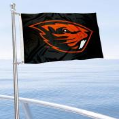Oregon State Beavers Boat and Mini Flag