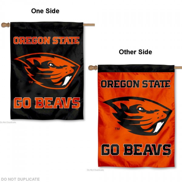 Oregon State Beavers House Flag is a vertical house flag which measures 30x40 inches, is made of 2 ply 100% polyester, offers dye sublimated NCAA team insignias, and has a top pole sleeve to hang vertically. Our Oregon State University House Flag is officially licensed by the selected university and the NCAA