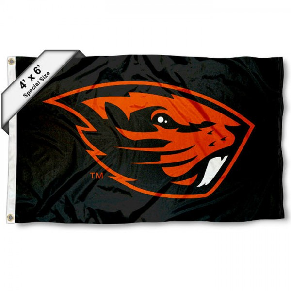 Oregon State Beavers Large 4x6 Flag measures 4x6 feet, is made thick woven polyester, has quadruple stitched flyends, two metal grommets, and offers screen printed NCAA Oregon State Beavers Large athletic logos and insignias. Our Oregon State Beavers Large 4x6 Flag is officially licensed by Oregon State Beavers and the NCAA.