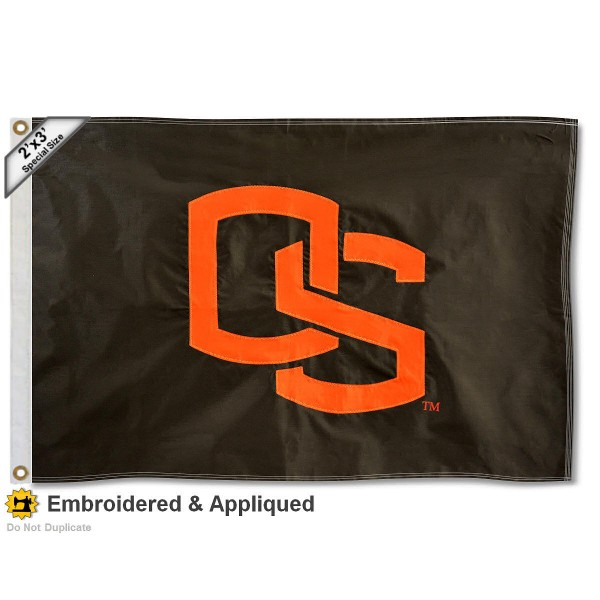 Oregon State OS Small 2'x3' Flag measures 2x3 feet, is made of 100% nylon, offers quadruple stitched flyends, has two brass grommets, and offers embroidered Oregon State OS logos, letters, and insignias. Our Oregon State OS Small 2'x3' Flag is Officially Licensed by the selected university.