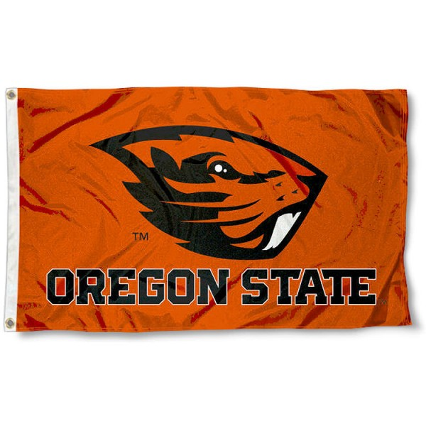 Oregon State University Beavers Flag measures 3'x5', is made of 100% poly, has quadruple stitched sewing, two metal grommets, and has double sided Oregon State University logos. Our Oregon State University Beavers Flag is officially licensed by the selected university and the NCAA