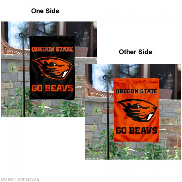 Oregon State University Garden Flag is 13x18 inches in size, is made of 2-layer polyester, screen printed Oregon State University athletic logos and lettering. Available with Same Day Express Shipping, Our Oregon State University Garden Flag is officially licensed and approved by Oregon State University and the NCAA.