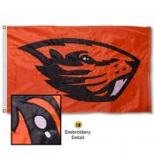 Oregon State University Nylon Embroidered Flag