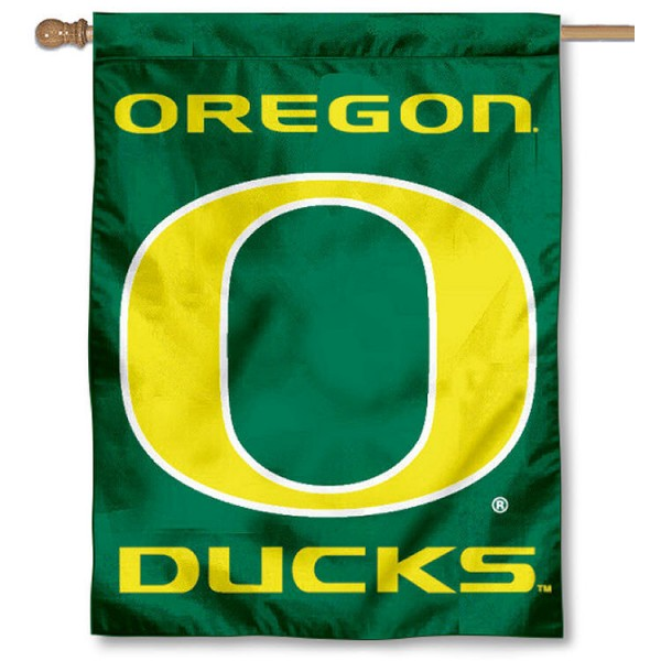Oregon UO Ducks Banner Flag is a vertical house flag which measures 30x40 inches, is made of 2 ply 100% polyester, offers dye sublimated NCAA team insignias, and has a top pole sleeve to hang vertically. Our Oregon UO Ducks Banner Flag is officially licensed by the selected university and the NCAA.
