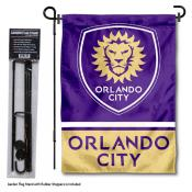 Orlando City SC Garden Flag and Flagpole Stand