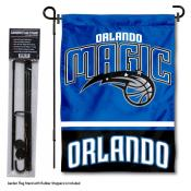 Orlando Magic Garden Flag and Flagpole Stand