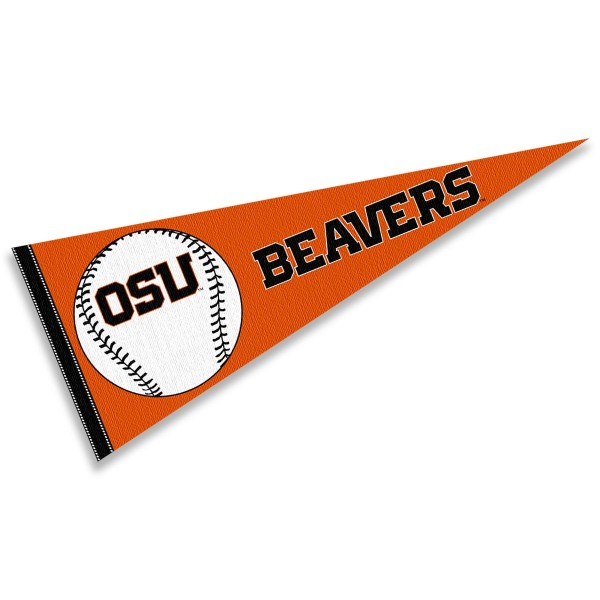 OSU Beavers Baseball Pennant consists of our full size sports pennant which measures 12x30 inches, is constructed of felt, is single sided imprinted, and offers a pennant sleeve for insertion of a pennant stick, if desired. This OSU Beavers Pennant Decorations is Officially Licensed by the selected university and the NCAA.