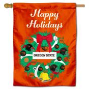OSU Beavers Happy Holidays Banner Flag