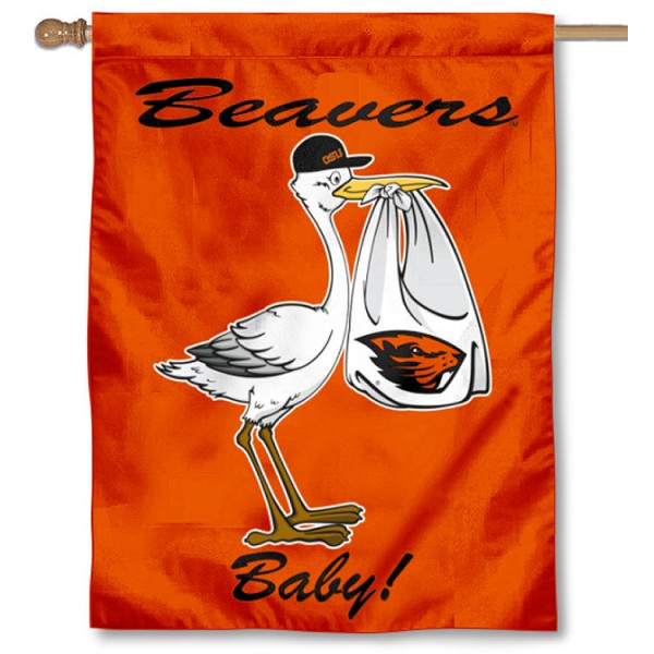 OSU Beavers New Baby Flag measures 30x40 inches, is made of poly, has a top hanging sleeve, and offers dye sublimated OSU Beavers logos. This Decorative OSU Beavers New Baby House Flag is officially licensed by the NCAA.