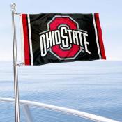 OSU Buckeyes Black Boat Flag