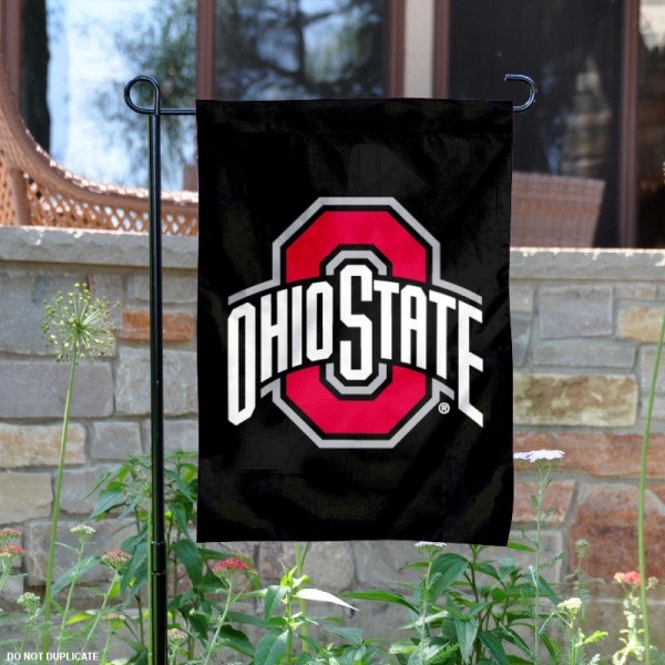 OSU Buckeyes Black Garden Flag is 13x18 inches in size, is made of 2-layer polyester, screen printed OSU Buckeyes athletic logos and lettering. Available with Same Day Express Shipping, Our OSU Buckeyes Black Garden Flag is officially licensed and approved by OSU and the NCAA.