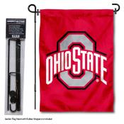OSU Buckeyes Garden Flag and Stand