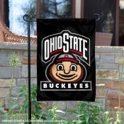 OSU Buckeyes Mascot Head Brutus Garden Flag