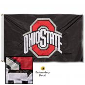 OSU Buckeyes Nylon Embroidered Flag