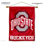 OSU Buckeyes Scarlet Wall Banner