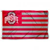 OSU Buckeyes Stripes Nation Flag
