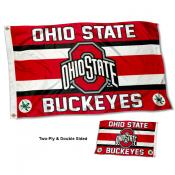 OSU Buckeyes Two Sided Flag