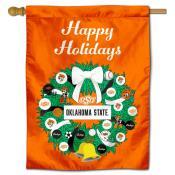 OSU Cowboys Happy Holidays Banner Flag
