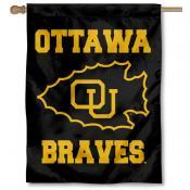 Ottawa Braves Logo Double Sided House Flag