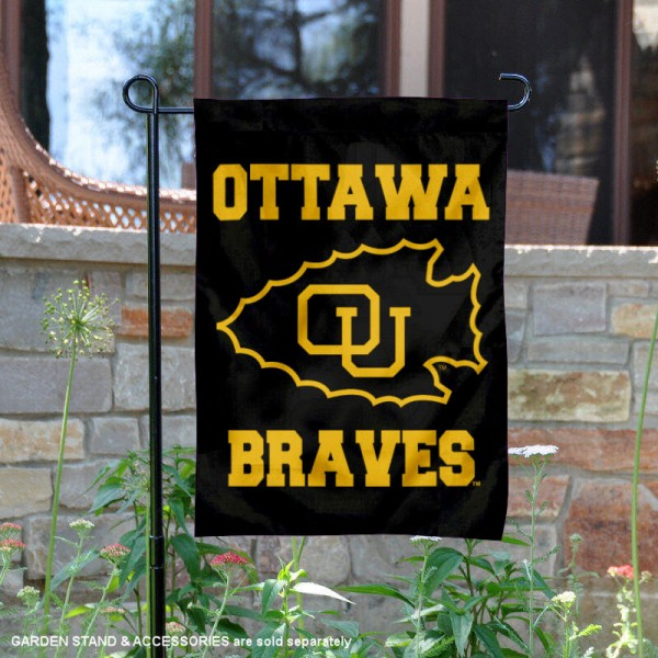 OU Braves Garden Flag is 13x18 inches in size, is made of 2-layer polyester, screen printed university athletic logos and lettering. Available with Same Day Express Shipping, our OU Braves Garden Flag is officially licensed and approved by the university and the NCAA.