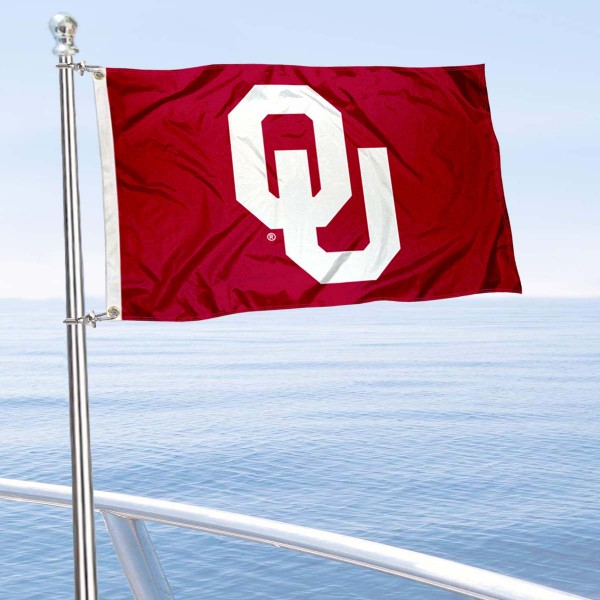 OU Golf Cart Flag