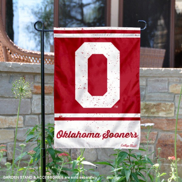 OU Sooners College Vault Logo Garden Flag is 12.5x18 inches in size, is made of 2-layer polyester, screen printed university athletic logos and lettering, and is readable and viewable correctly on both sides. Available same day shipping, our OU Sooners College Vault Logo Garden Flag is officially licensed and approved by the university and the NCAA.