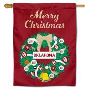 OU Sooners Happy Holidays Banner Flag