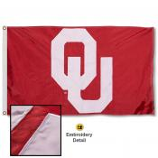 OU Sooners Nylon Embroidered Flag