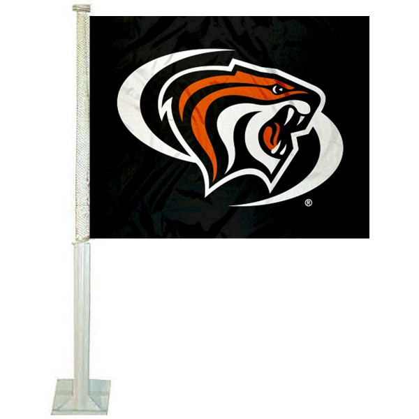 Pacific Tigers Car Window Flag measures 12x15 inches, is constructed of sturdy 2 ply polyester, and has screen printed school logos which are readable and viewable correctly on both sides. Pacific Tigers Car Window Flag is officially licensed by the NCAA and selected university.