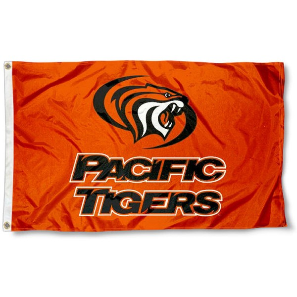 Pacific Tigers Logo Flag measures 3'x5', is made of 100% poly, has quadruple stitched sewing, two metal grommets, and has double sided Team University logos. Our Pacific Tigers 3x5 Flag is officially licensed by the selected university and the NCAA.