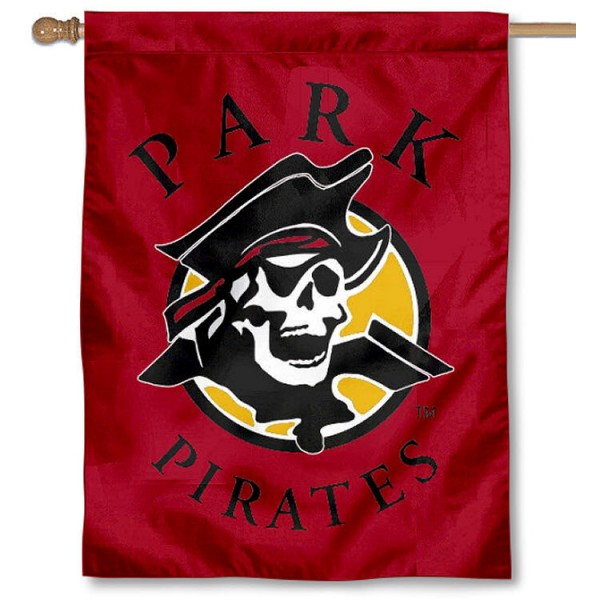 Park Pirates Banner Flag is a vertical house flag which measures 30x40 inches, is made of 2 ply 100% polyester, offers screen printed NCAA team insignias, and has a top pole sleeve to hang vertically. Our Park Pirates Banner Flag is officially licensed by the selected university and the NCAA.