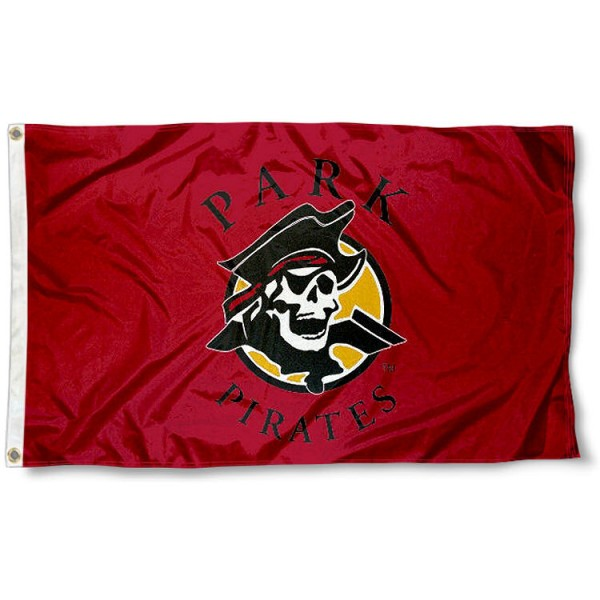 Park University Pirates Flag measures 3'x5', is made of 100% poly, has quadruple stitched sewing, two metal grommets, and has double sided Team University logos. Our Park Pirates 3x5 Flag is officially licensed by the selected university and the NCAA.