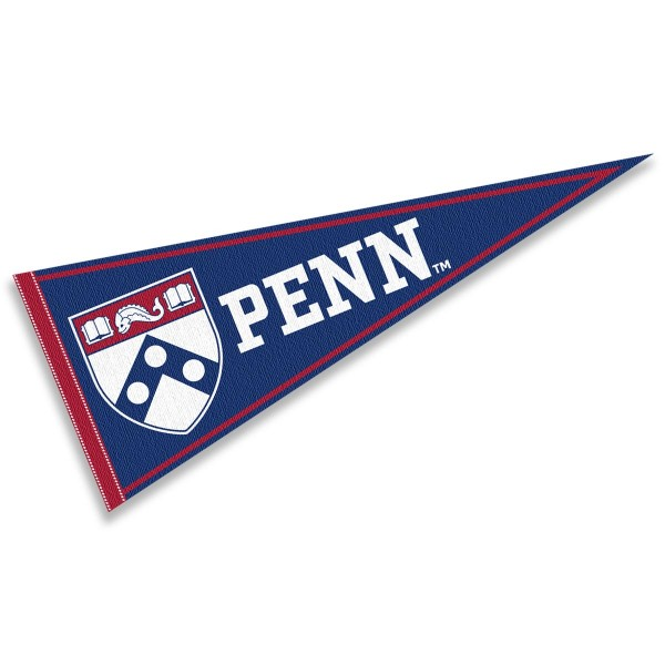 Penn Felt Pennant consists of our full size pennant which measures 12x30 inches, constructed of felt, single sided imprinted, and offers a pennant stick sleeve. This Penn Felt Pennant is officially licensed by the selected University and the NCAA.
