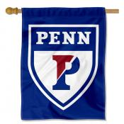 Penn Quakers Athletic Logo Blue House Flag