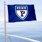Penn Quakers Boat and Mini Flag