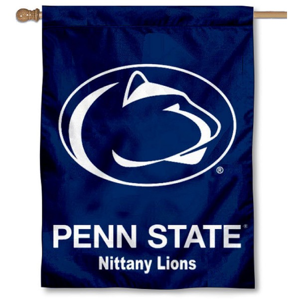 Penn State Nittany Lions Banner Flag is a vertical house flag which measures 30x40 inches, is made of 2 ply 100% polyester, offers dye sublimated NCAA team insignias, and has a top pole sleeve to hang vertically. Our Penn State Nittany Lions Banner Flag is officially licensed by the selected university and the NCAA.