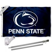 Penn State Nittany Lions Blue Flag Pole and Bracket Kit