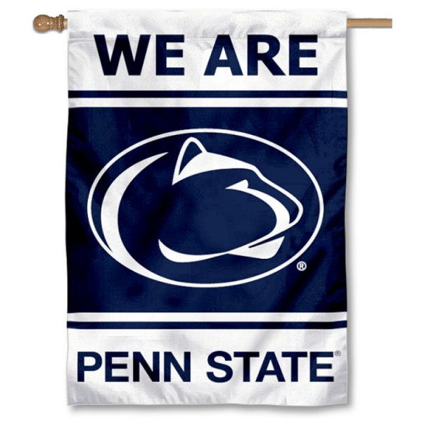 Penn State Nittany Lions Double Sided Banner is a vertical house flag which measures 28x40 inches, is made of 2 ply 100% nylon, offers screen printed NCAA team insignias, and has a top pole sleeve to hang vertically. Our Penn State Nittany Lions Double Sided Banner is officially licensed by the selected university and the NCAA.